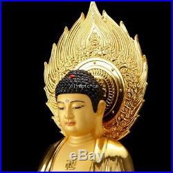 41'' pure bronze red copper gold set Three Western Saints buddha Bodhisattva