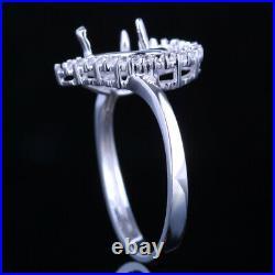5x5mm Heart Shape Perfect Elegant Jewerly Engagement Wedding Ring 10K White Gold