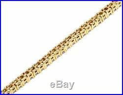 7 Ct Round Cut Diamond Tennis Perfect Bezel Set Bracelet 14k White Gold Over 7