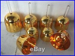 7 chakras set Golden crystal singing bowls with handle 8pcs perfect CDEFGABC