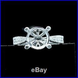 9.5-10mm Round 10K White Gold Semi Mount Wedding Diamond Perfect Ring Setting