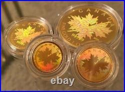 99.999% Pure Gold RCM Fractional Hologram Set Mintage 500 (2020)