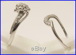 9carat 9k White Gold 1/2carat Diamond Perfect Fit Bridal Set UK-P 1/2 US-7 3/4