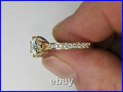 9ct Gold 1.20ct Pure Moissanite Solitaire Engagement Ring Tulip Setting