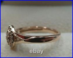 9ct Rose Gold Perfect Fit Diamond Bridal Set Size I 3/4