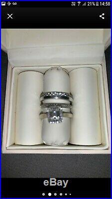 9ct White Gold 1/3 Diamond Perfect Fit Bridle Set