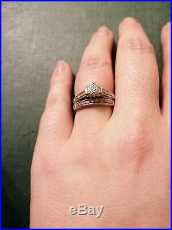 9ct White Gold Perfect Fit Bridal Set Size N