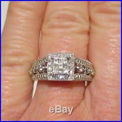 9k White Gold 1/2k Diamond Perfect Fit Bridal Set Engagement Ring Wedding Band