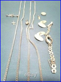 9kt pure gold lot with 2 beautiful chains 2 sets of cuff links Not scrap great