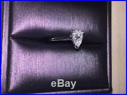 A Stunning perfect 1.40 Carat `Pear shaped` Diamond ring, set in 18ct white gold