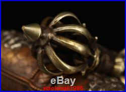 A set China old antique Tibet Pure copper Pure handwork Gold plating Amulet
