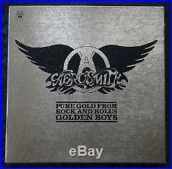 AEROSMITH PURE GOLD FROM ROCK AND ROLL'S GOLDEN BOYS 3 ALBUM BOX SET PROMO LP's