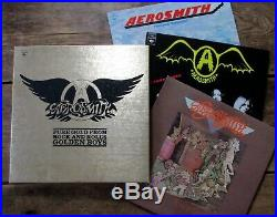 AEROSMITH Pure Gold From Rock And Roll's Golden Boys (1976) 3 LP Boxed Set EX