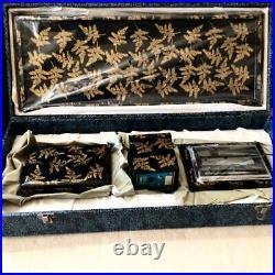 Aizu lacquer high-class lacquerware Shinobu desk lighter set, pure gold lacque