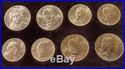 American Arts Gold Medallions Complete Set of 10 1980-84 Total 7.5 oz Pure Gold