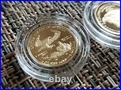 American Eagle 2021 1/10 Oz Gold Two-Coin Set Designer Edition 21XK Perfect