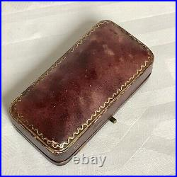 Antique 9ct Gold Bar Brooch Set With Red Spinal Gemstone. 1.48g, Perfect Gift