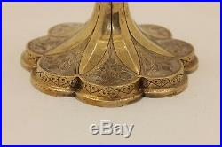 Antique Original Perfect Silver Gold Plated Amazing Cup And Plate Set
