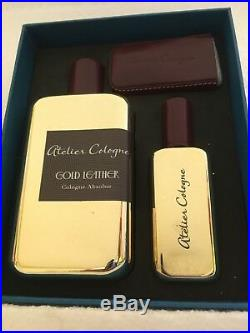 Atelier Cologne Gold Leather Cologne Absolue Pure Perfume 200ml & 30ml Gift Set