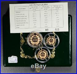 BU0153 France 1991 Proof Set gold agw. 7468oz pure gold mintage 2000 rare! Combi