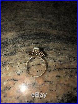 Beautiful Estate Genuine Opal Ring18k Yellow Gold Settingperfect Gift