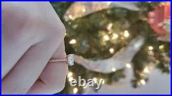 Beautiful two carat moissanite ring set in 14k rose gold perfect condition