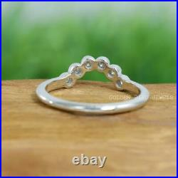 Bezel Set 14KT Gold Band/ Perfect Matching Band For Engagement Ring Gift for her