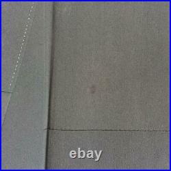 Black Tomesode Kimono Pure Silk Wave Pattern Gold Aoi No Obi Set Size Nan