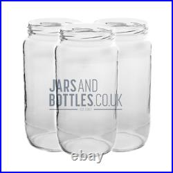 Bulk set of 1060ml Large Food Jam Jars perfect for pickles & chutnes inc caps