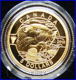 COLLECTER's ITEM. 999 Pure Gold $5 dollars Coins 1/10 oz O Canada Set with Box