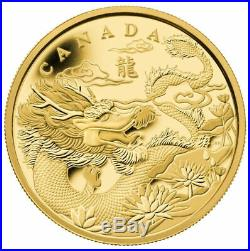 Canada 2012 The Year of the Dragon Pure Gold Fractional Set