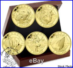 Canada 2013 $5 Oh Canada Wildlife Pure Gold Coin Set