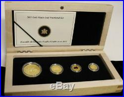 Canada 2013 Pure Gold Maple Leaf 4 Coin Fractional Set MINTAGE 600