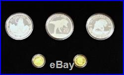 Canada 2014 &15 $20 pure silver & Gold Prehistoric Animals set of 5. 342