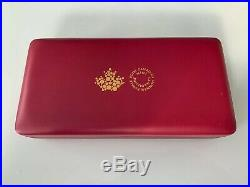 Canada 2016 5 Coin 24-karat Gold Plated Pure Silver Maple Leaf Fractional Set