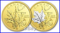 Canda 2018 $200 Pure Gold 2-Coin Proof Set Enchanting Maple Leaves