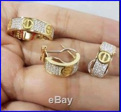 Cartier Pure Saudi Gold Earrings And Ring Set