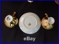 Coffee or tea Flores Bavaria pure gold and like stones, set coffee or tea
