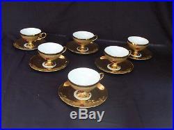 Coffee or tea Flores Bavaria pure gold and like stones, set coffee or tea
