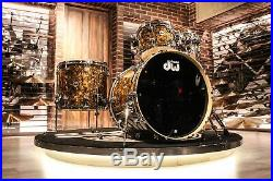 DW Collector's Series Pure Maple 4-piece Gold Abalone Drum Set New