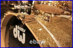 DW Collector's Series Pure Maple 5-pieces Gold Glass withGold hardware Drum Set