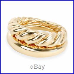 David Yurman Pure Form Stack Fashion Ring Set in 18K Yellow Gold