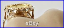 Estate 1991 1/20 OZ. 999 Pure Gold Panda Coin Ring 10K Yellow Gold Setting 6 1/2