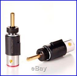 FURUTECH FT-212(G) hi-performance Gold-Plated/Pure-copper Banana plugs-set of 4