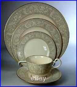 Franciscan Renaissance Grey (20 Piece Set) 4 Place Settings Gold Trim, Perfect