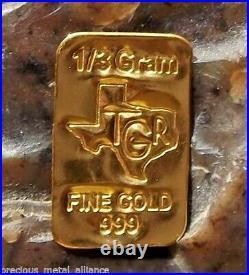 GOLD 1 GRAM TGR BULLION BARS 999.9 THE PERFECT PREPPER COMBO SET bin3