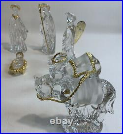 GORHAM Crystal- Gold Nativity 10 pc Perfect Condition Set