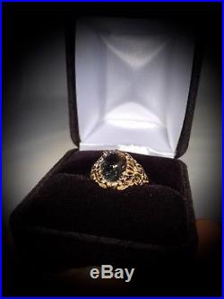 Genuine 2.5 Carat Herkimer Diamond set in a PURE 14K YELLOW GOLD RING (Size 7)