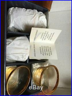 Gold 18 pure A Casa K Atlantide Decor Crystal 6 Piece Setting Made In Italy 2box