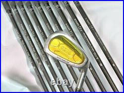 Gold Back Face S-YARD U- U-2 Perfect 10PC R-FLEX IRONS SET Golf nwo